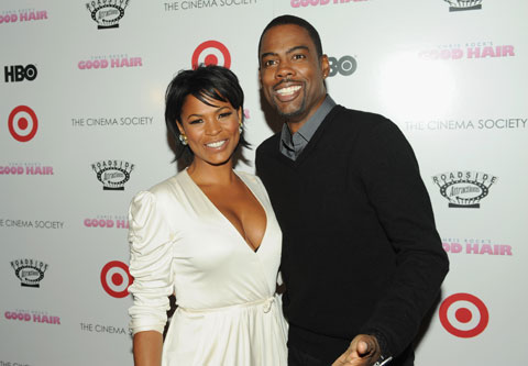 Chris Rock at the Good Hair screening hosted by Cinema Society and Target (image from Style.com)