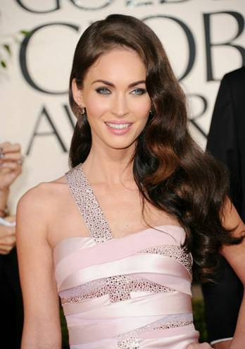 megan fox 2011 golden globes dress. Megan Fox at the 2011 Golden