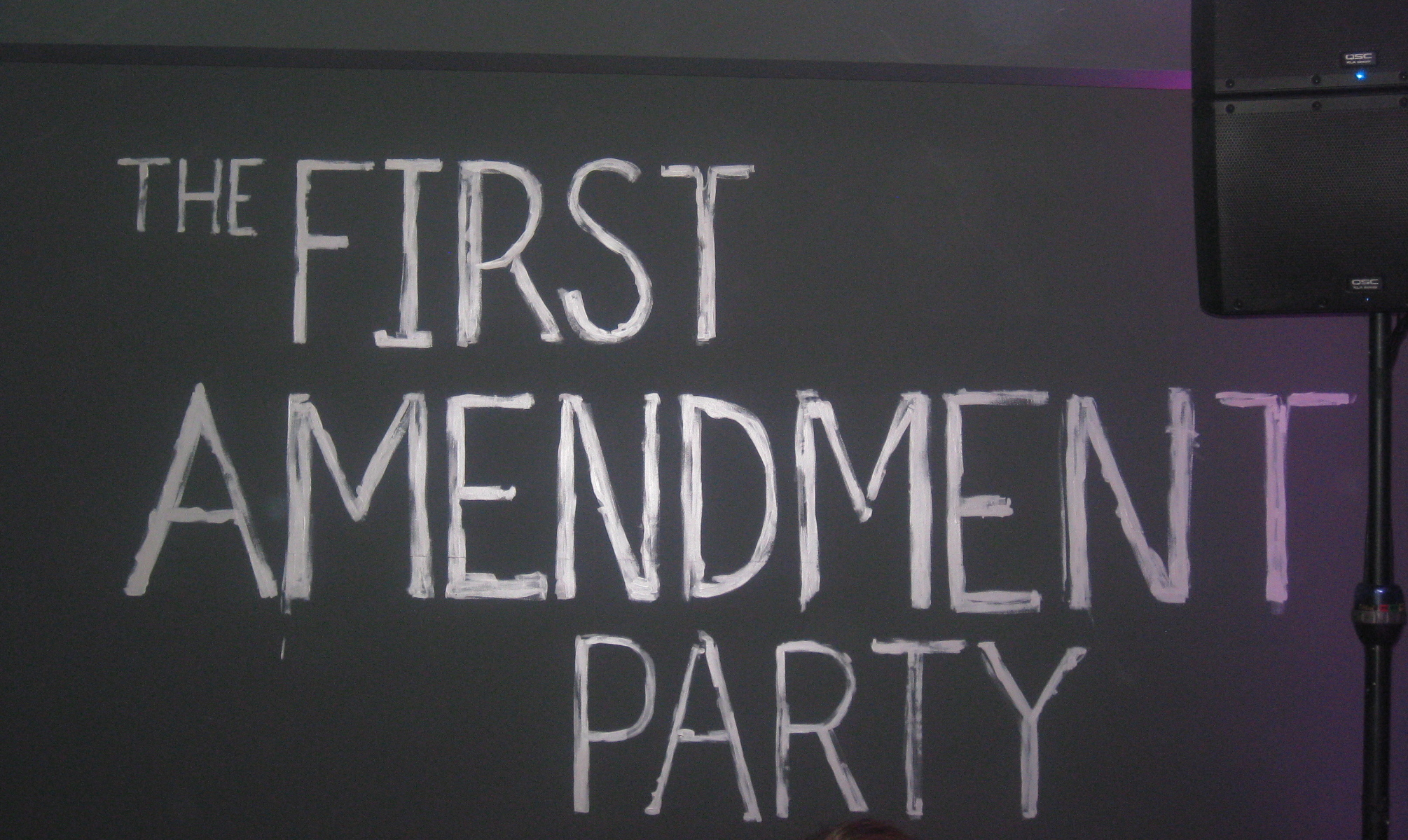 the first amendment Noun 1 first amendment - an amendment to the constitution of the united states guaranteeing the right of free expression includes freedom of assembly and freedom of the press and freedom of religion and freedom of speech bill of rights - a statement of fundamental rights and privileges (especially .