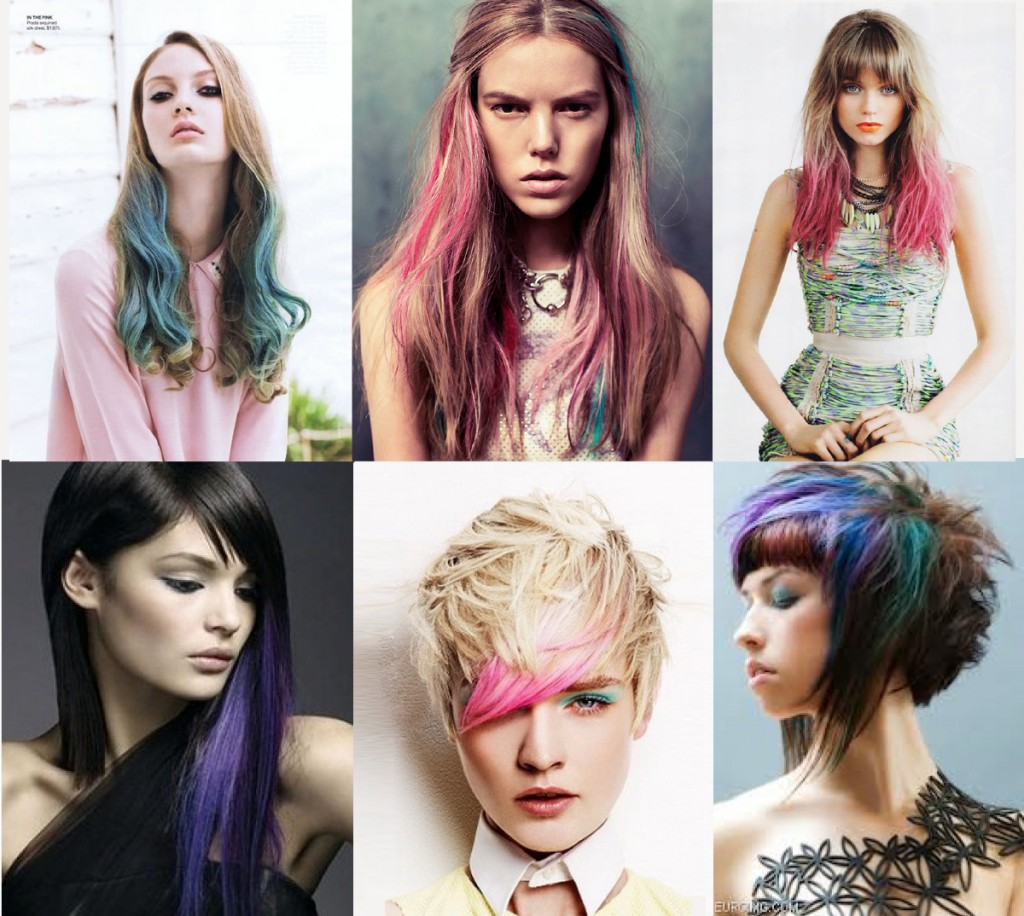 {disclaimer ~ these are just awesome examples of trends with color.  These are not done with Rita Hazan spray.}
