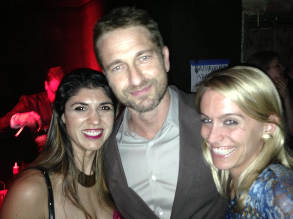 Lara Eurdolian (moi!), Gerard Butler and Amy Harder