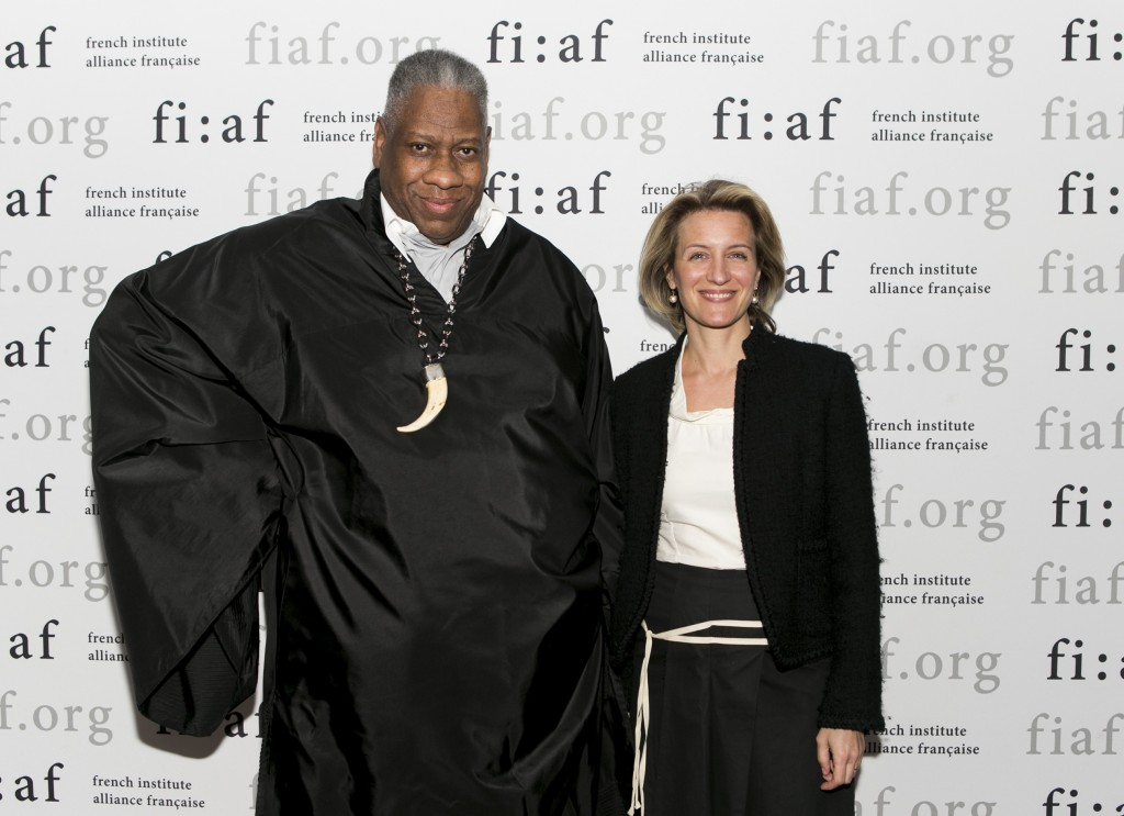 Andr Leon Talley with Melissa Ceria, curator of FIAFs Art de Vivre series The Power of Style.